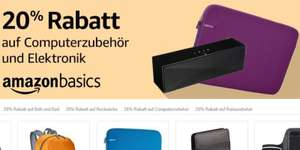 [Amazon-Prime] 20% Rabatt auf viele Amazon Basic Produkte