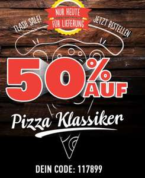 [Dominos] 50% Rabatt auf alle Pizza-Klassiker
