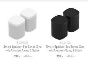 Westwing: 2x Sonos ONE 399€!