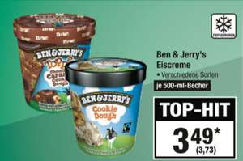 Ben & Jerry's Eiscreme 500ml (verschiedene Sorten) (12.07. - 18.07.) [Metro Angebote]