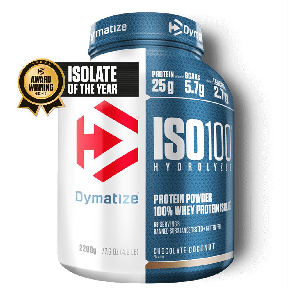 24,80 € statt 35,95 für ISO100 Hydrolyzed Protein bei Dymatize + Shoop