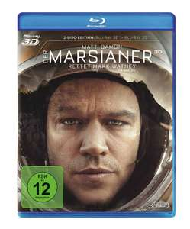 Der Marsianer (3D Blu-ray + 2D) für 9,99€ inkl. Versand (Saturn + Amazon)