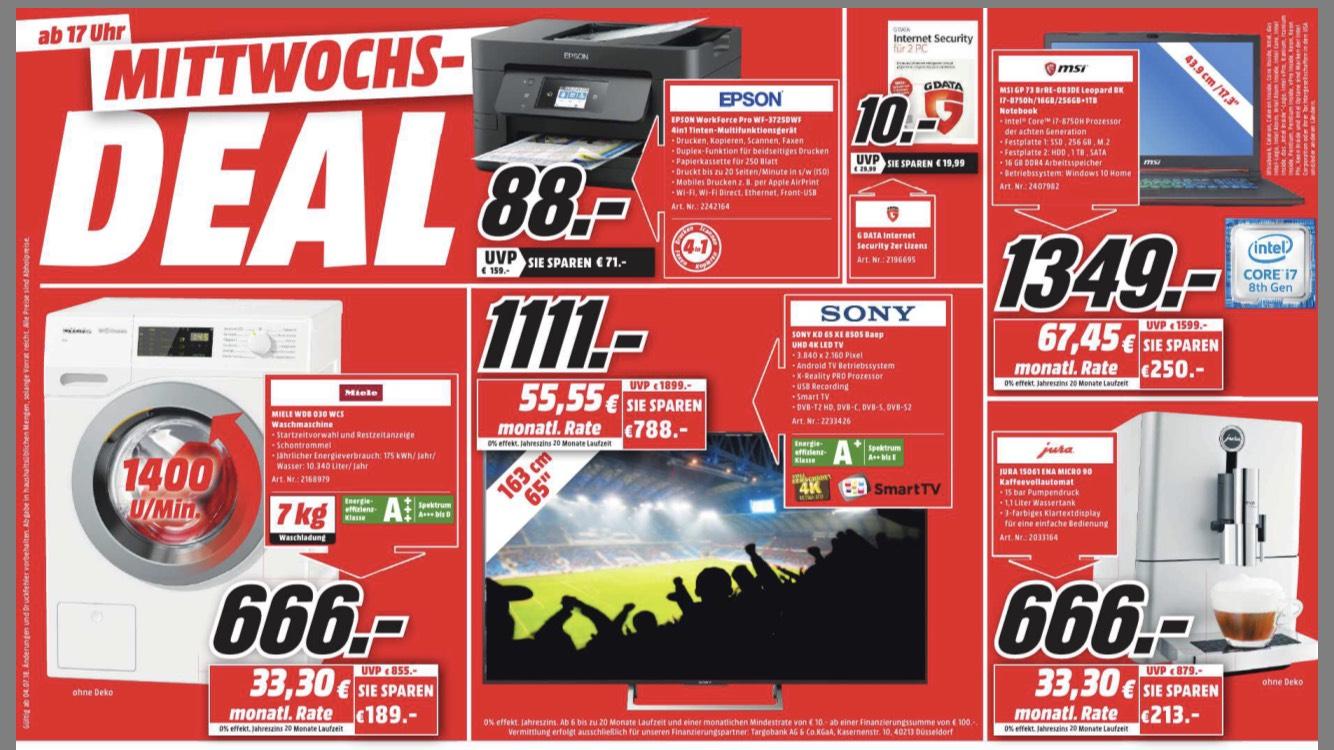 Sony KD 65 XE 8505 BAEP für 1111,- im Mediamarkt Mülheim /Ruhr