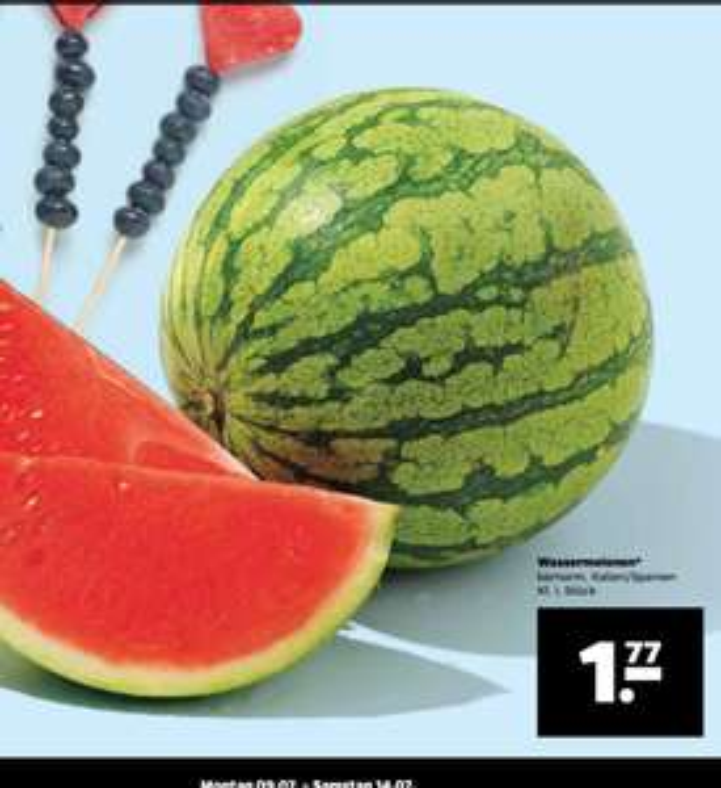 Wassermelonen 1,77€ pro Stück [Netto mit Hund] ab 9.7