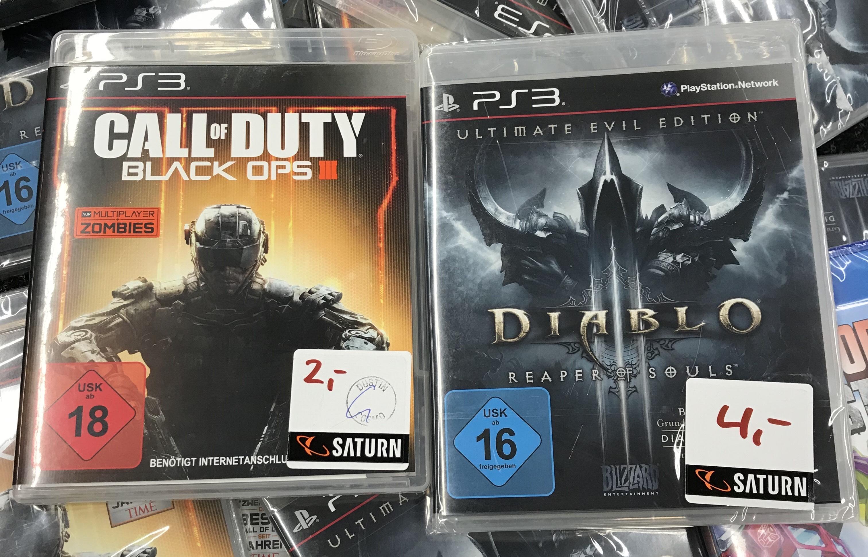 [Lokal Saturn HH-Altstadt] [PS3] CoD Black Ops 3 für 2€ und Diablo III für 4€