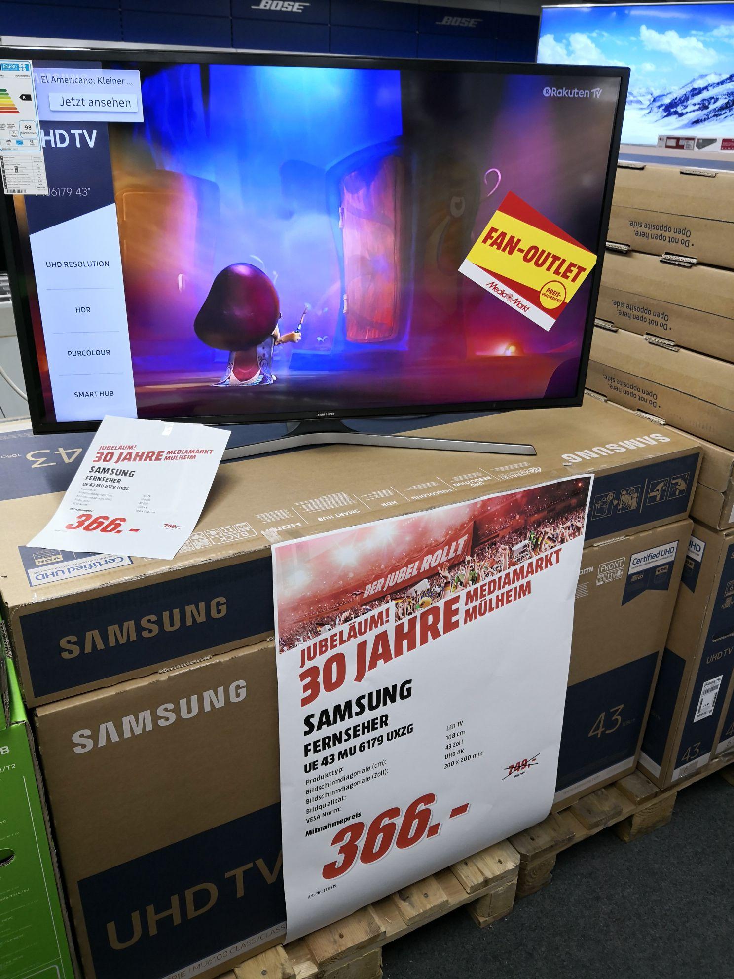 Samsung 43MU6179 für 366Euro! Im MM Mülheim a. d. Ruhr
