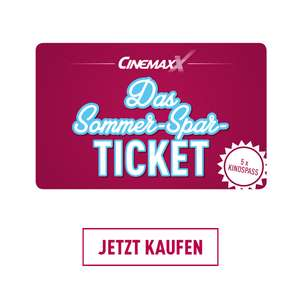 CinemaxX Sommer-Spar-Ticket 5 Filme für 27,90