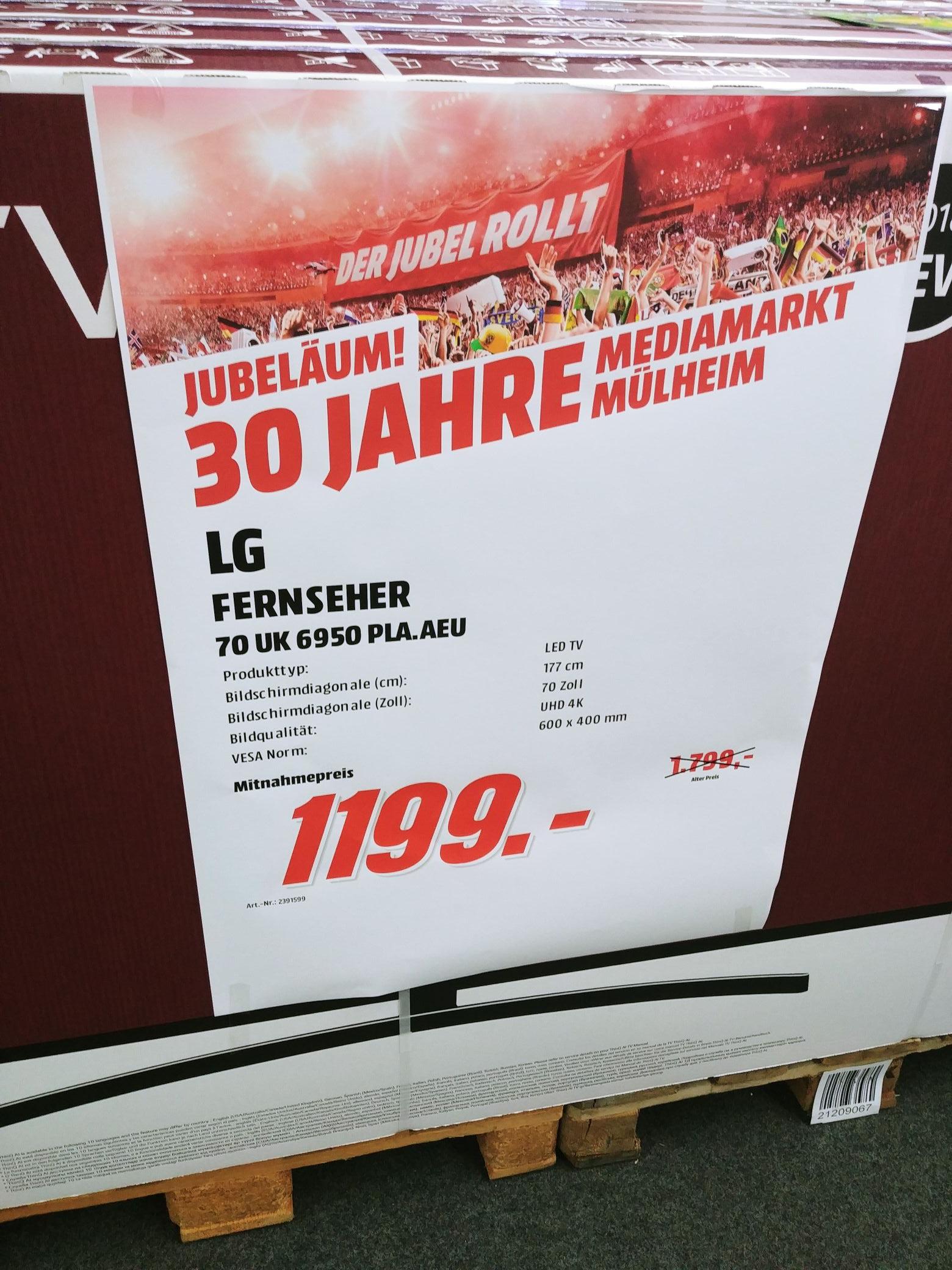 LG 70Uk6950 PLA bei Media Markt in Mülheim/Ruhr
