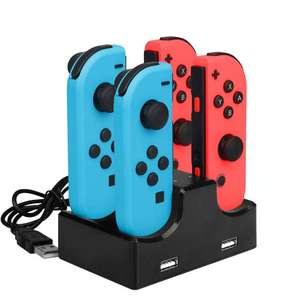 Ladestation für 4 Nintendo Switch Joy-Cons + 2 USB-Geräte