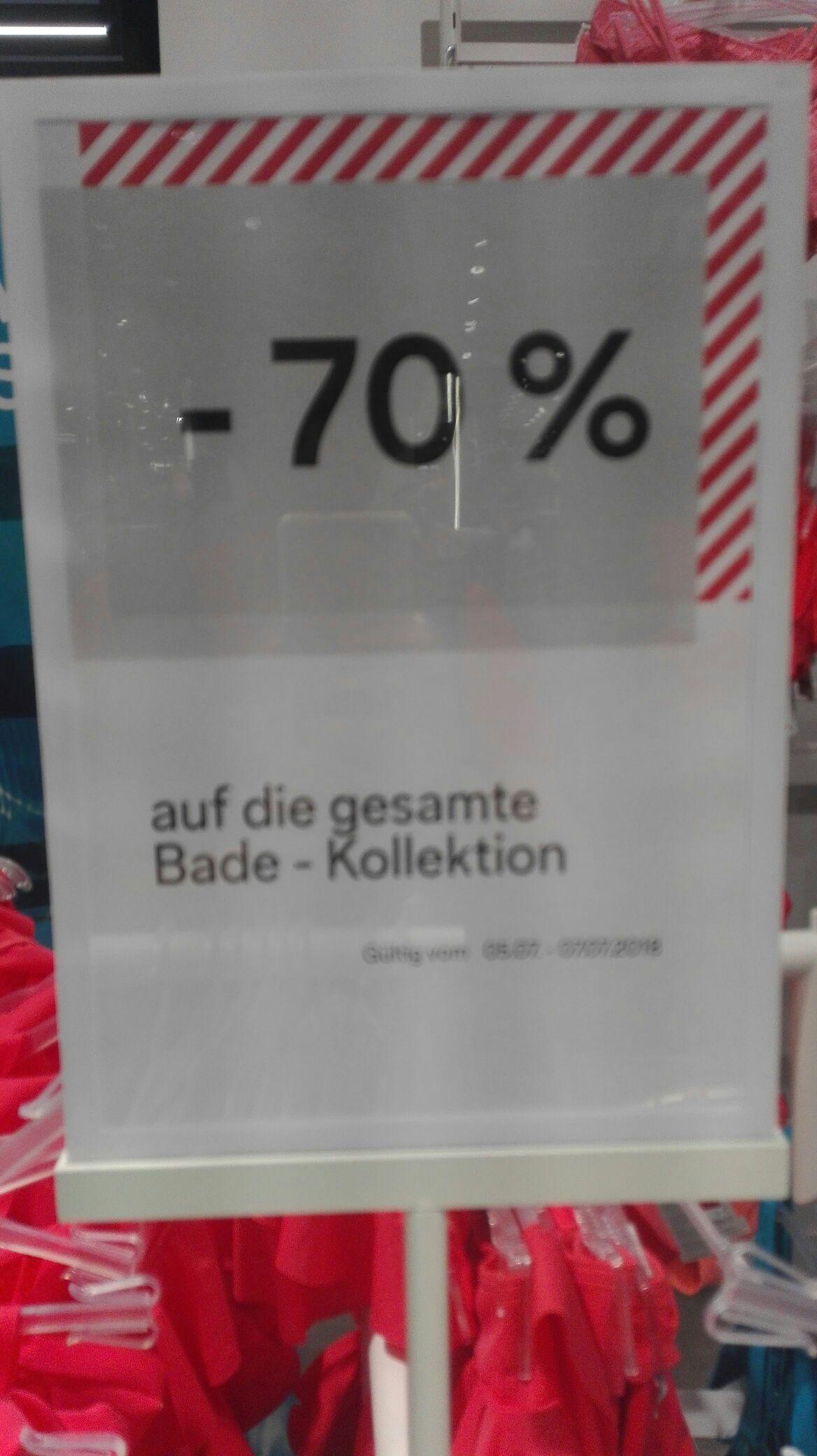 C&A Bundesweit  -70% auf Bademode