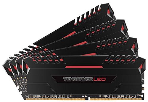 Corsair Vengeance LED 32GB (4x8GB) DDR4 3400MHz C16 XMP 2.0 Enthusiast LED-Beleuchtung Speicherkit (mit rot LED Beleuchtung) schwarz