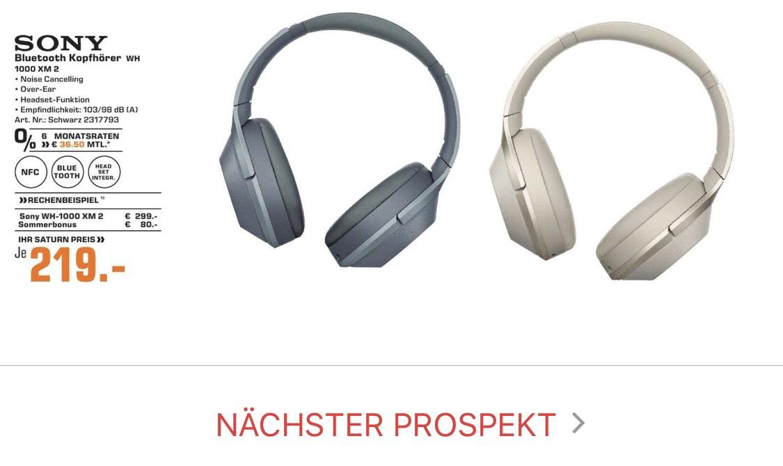 [Saturn Nürnberg] Sony WH-1000XM2 NC Headphones