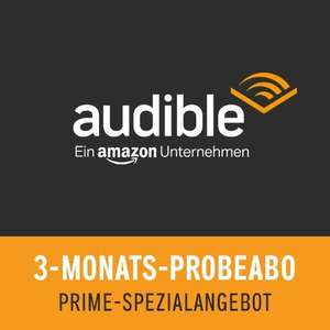 Abo: 3 Monate Audible kostenlos