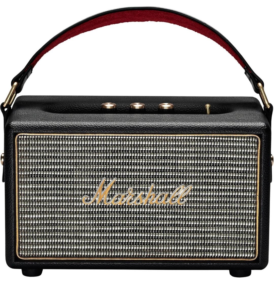 [Cyberport] Marshall Kilburn tragbarer Bluetooth Lautsprecher (20 h Spielzeit, Bluetooth 4.0, 3,5 mm Klinke, 25 Watt) schwarz