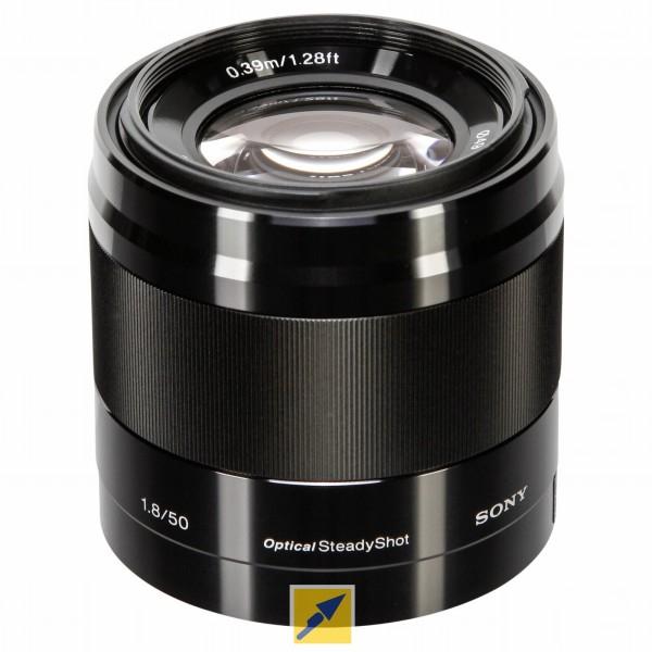 Sony E-Mount Portraitobjektiv SEL50F18 (z.B. für Sony Alpha)