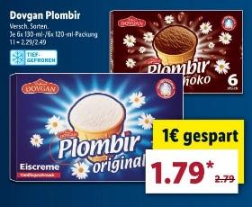 Plombir Eis für 1.79€ ab Montag den 09.07.18 @ LIDL