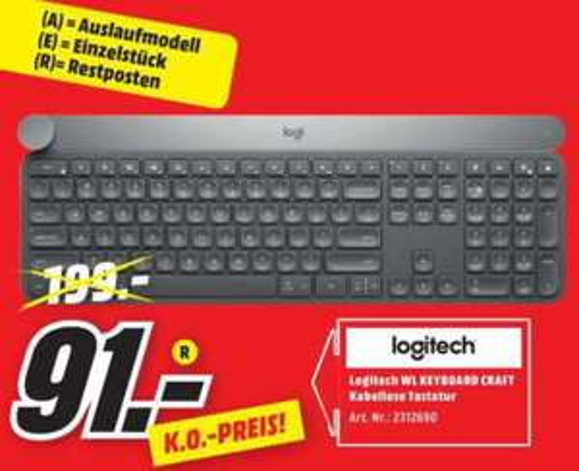 [Lokal MM Köln] Logitech Craft Tastatur für 91€