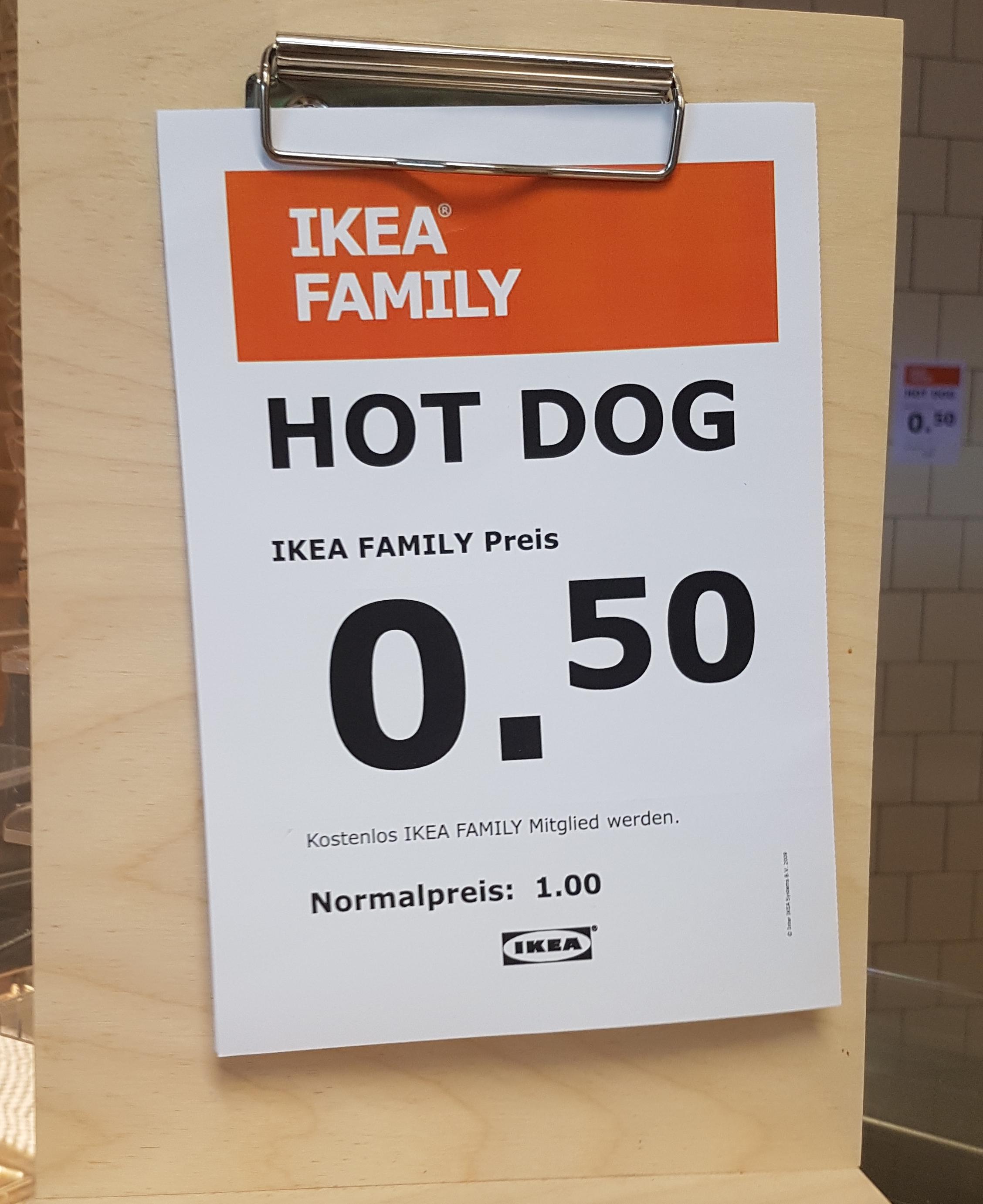 [Lokal][Ikea Family] Hotdog und großes Softeis | IKEA Kaiserslautern