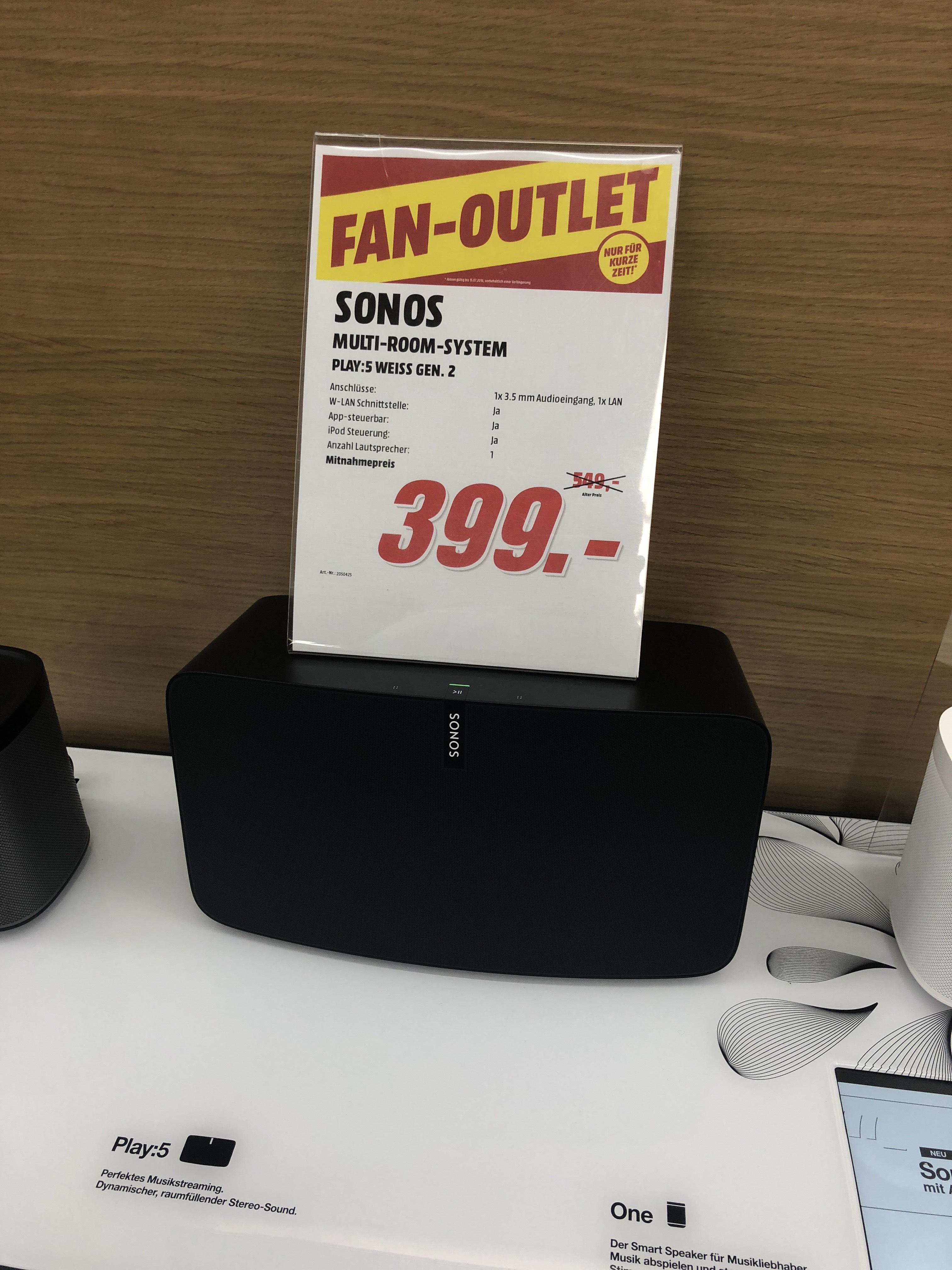 Sonos Play 5 Gen. 2 / Media Markt Duisburg Grossenbaum/ LOKAL