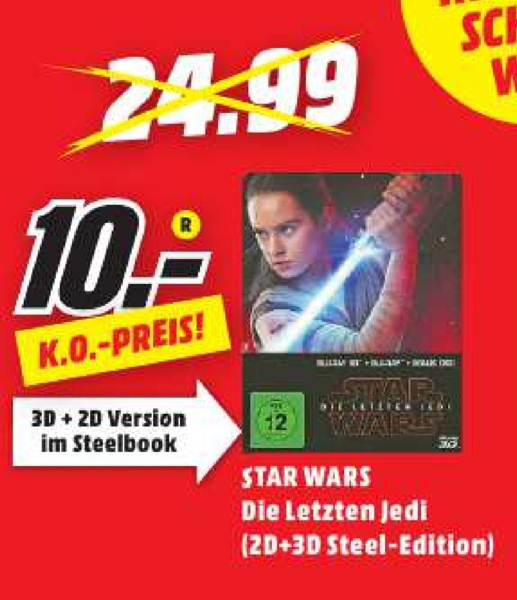 Star Wars - Last Jedi Steelbook Blu-ray 2D&3D (Lokal Media Markt Dietzenbach)