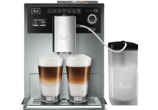 MELITTA E 970-101 Caffeo CI Kaffeevollautomat Silber (Stahl-Kegelmahlwerk, 1.8 Liter Wassertank)