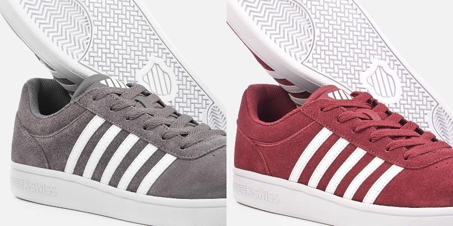 "K-Swiss™ - Herren Sneaker ""Court Cheswick SDE"" (Rot,Grau) ab €28,17 [@Zavvi.de]"