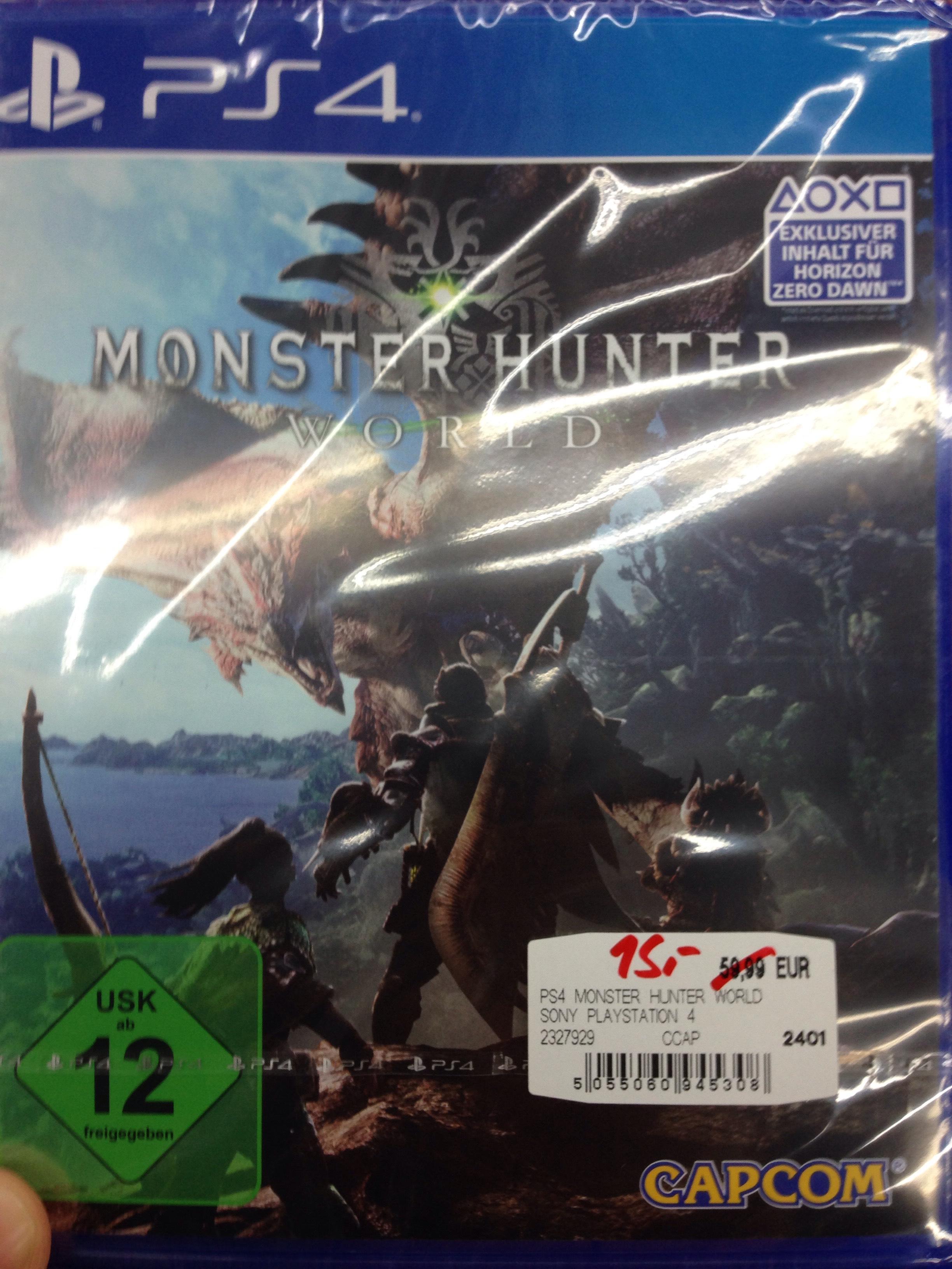 Monster Hunter World PS4 für 15€ lokal Mediamarkt Bremen