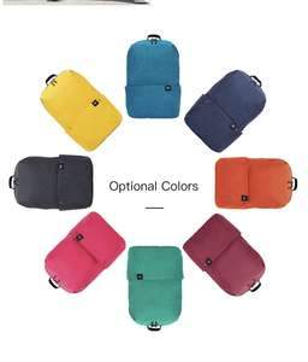 Xiaomi Trendy Solid Color Lightweight Water-resistant Backpack Rucksack