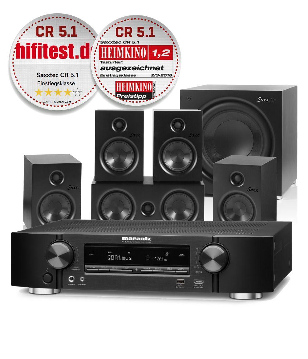 * Heimkino zum kleinen Preis* AVR und 5.1 System Marantz NR 1508 & Saxx CR 5.1