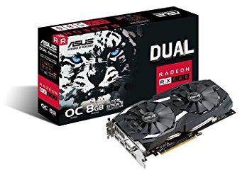 Asus RX580 DUAL-RX580-O8G (8GB) + 4 Gratis Spiele
