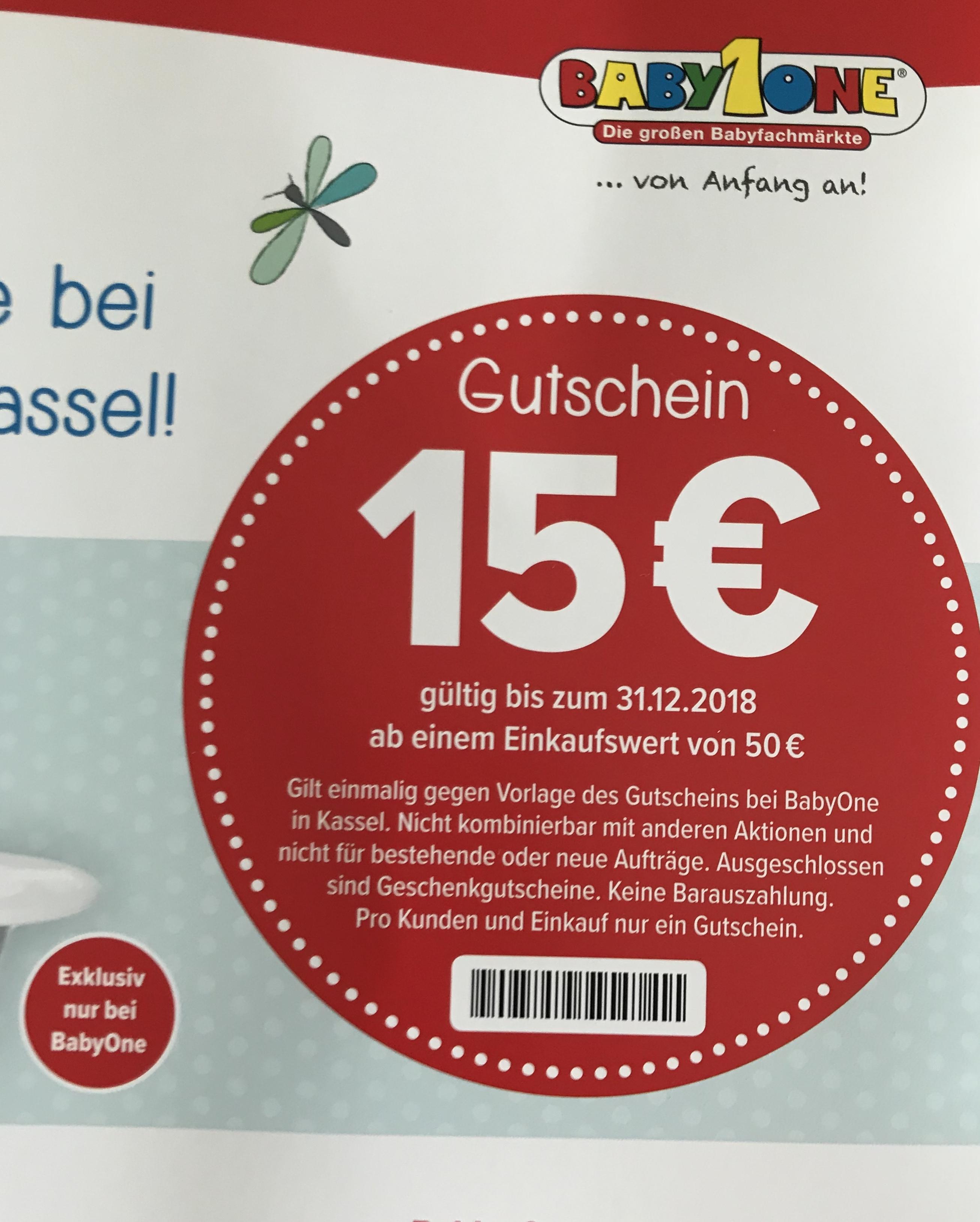 [lokal Kassel]15€ Gutschein (MBW 50€) bei Baby One Kassel
