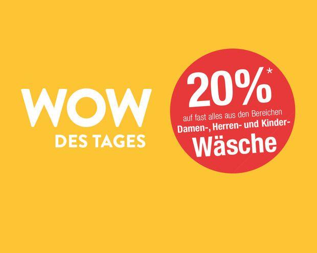 Galeria Kaufhof - 20% auf Wäsche