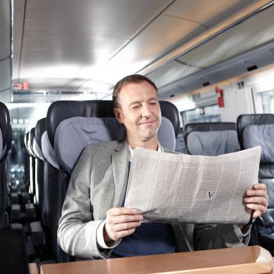 Punktesparen bei der Bahn. 1. Klasse Upgrade für 350 statt 500 Punkte