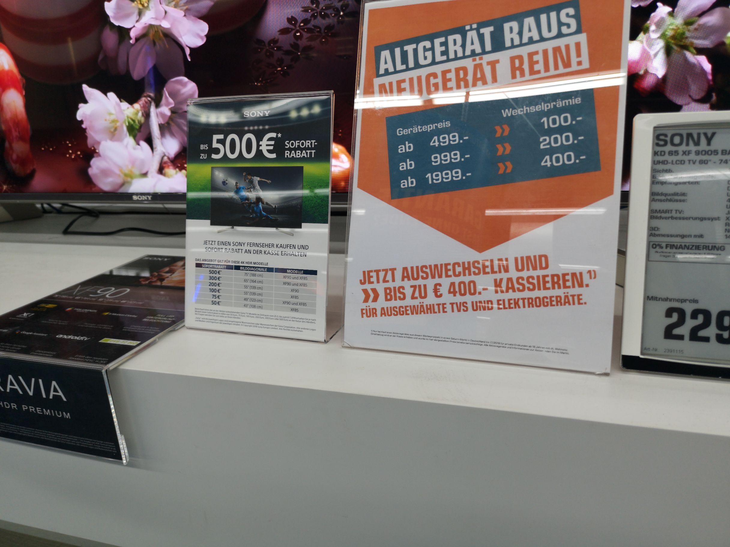 Lokal Karlsruhe Kaiserstraße: Doppelt cashback auf Sony TV
