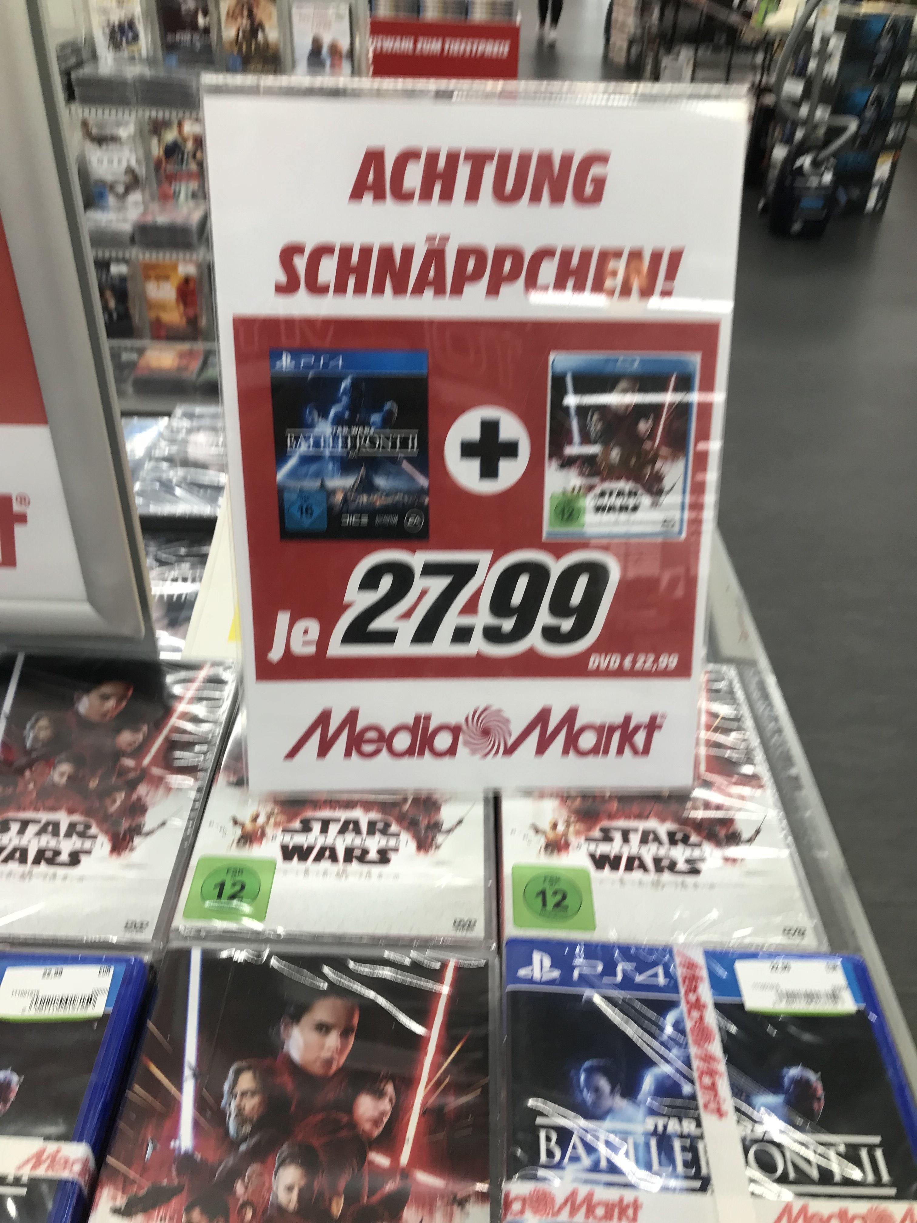 [LOKAL MM HENSTEDT-ULZBURG] Star Wars Battlefront 2 + Die letzten Jedi Blu Ray