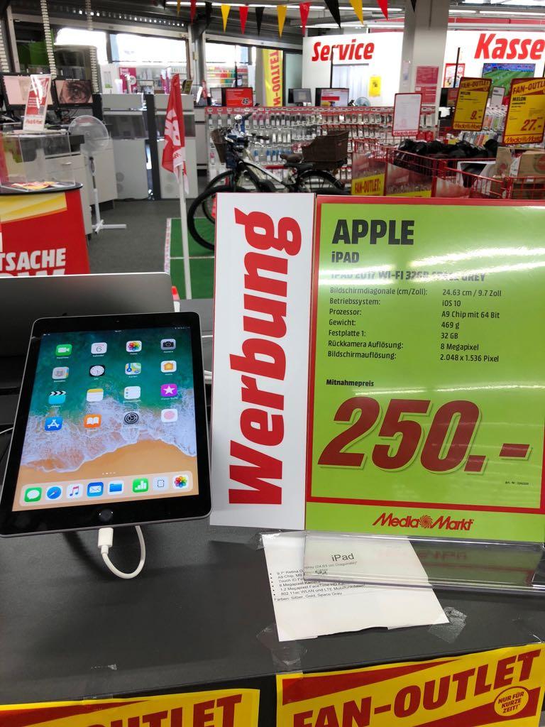 "Apple IPAD 2017, 9,7"", 32 GB W-LAN Variante für 250€ Lokal! Media Markt Frankfurt am Main Borsigallee."