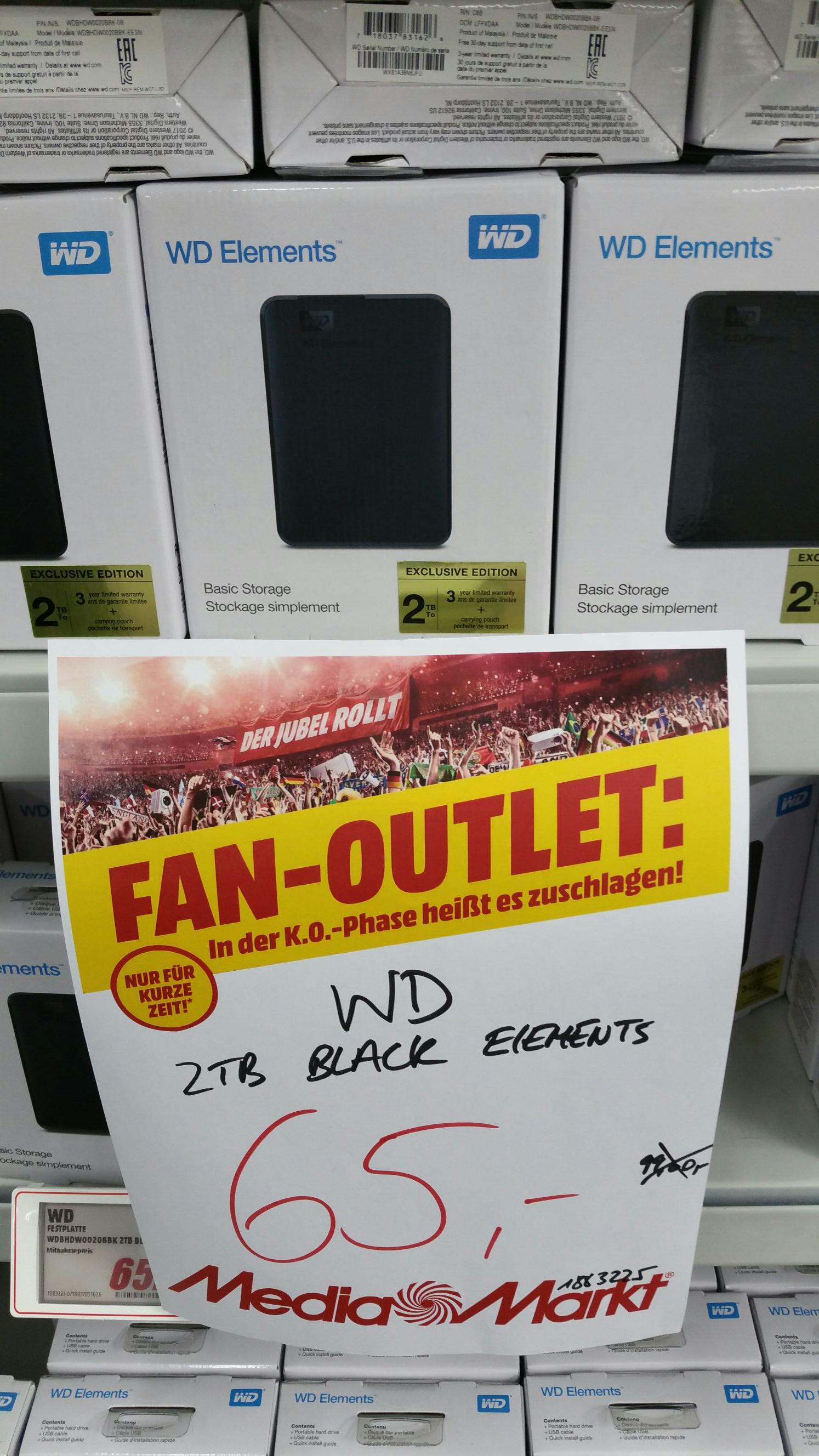 2TB WD Elements 2.5 externe USB 3.0 Festplatte