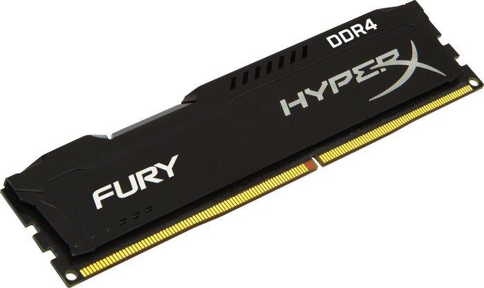 Arbeitsspeicher Kingston HyperX Fury schwarz DIMM 16GB, DDR4-2933, CL17 (HX429C17FB/16) Einzelmodul
