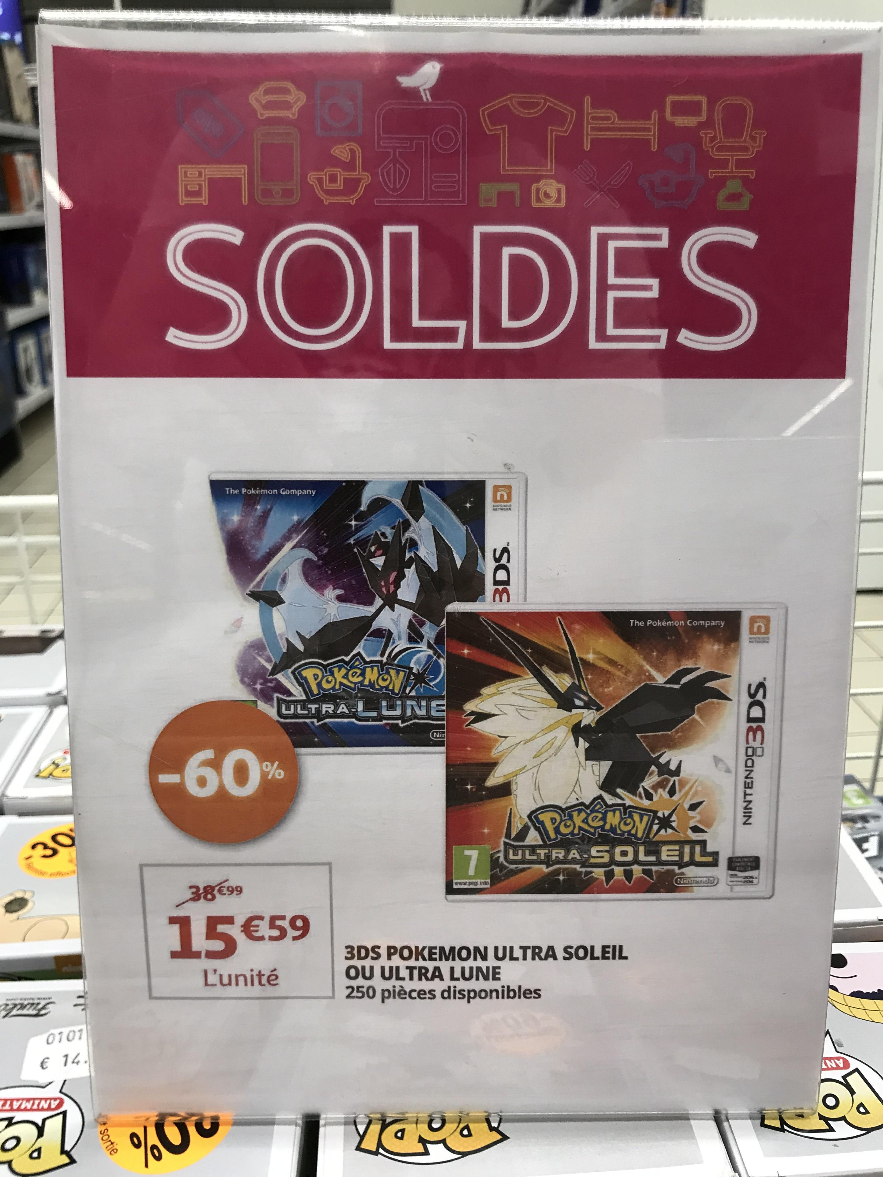 [Lokal / Grenzgänger Luxemburg] Pokemon Ultramond / Ultrasonne für Nintendo 3DS @ Auchan