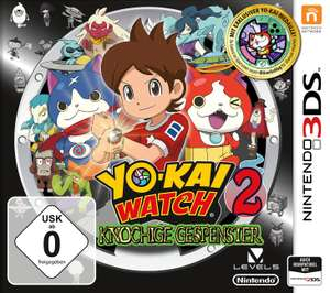 Yo-Kai Watch 2: Knochige Gespenster (3DS) & Yo-Kai Watch 2: Kräftige Seelen (3DS) für je 10€ versandkostenfrei (Saturn & Amazon Prime)