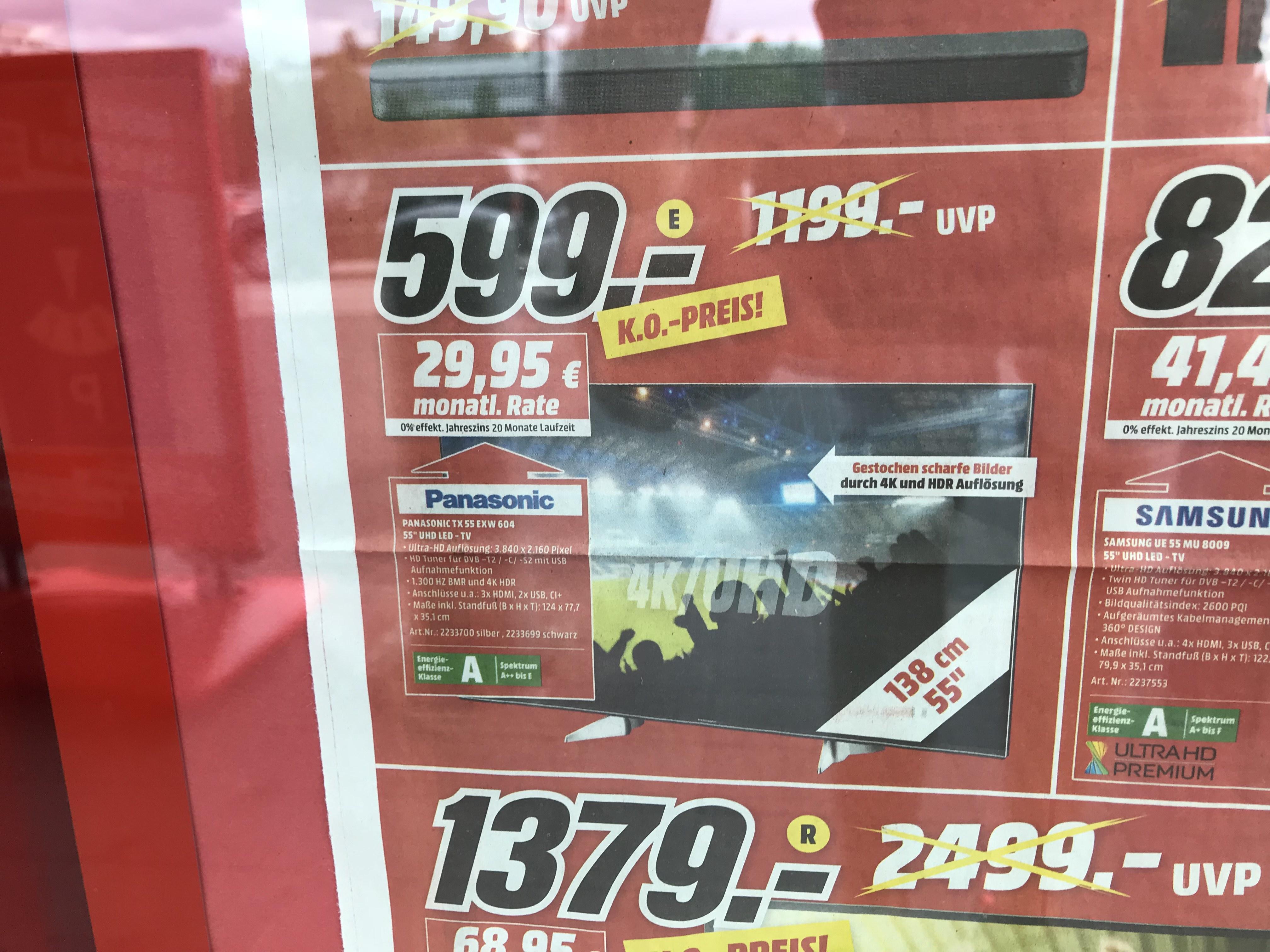 PANASONIC TX-55EXW604 Media Markt Bayreuth