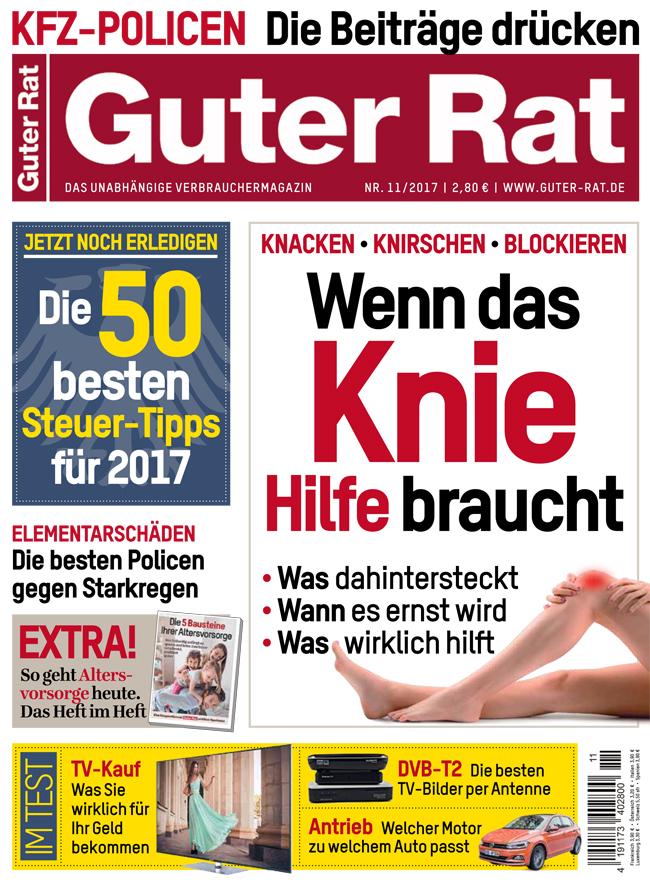 8 Hefte GUTER RAT + 20 Euro Verrechnungsscheck für 22,40 Euro