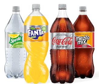 [Scondoo] -0,20€ für den Kauf von Fanta Orange Zero, Mezzo Mix Zero, Sprite Zero und Coke light 1,5l (max. 6€ für 30 Flaschen pro Account)