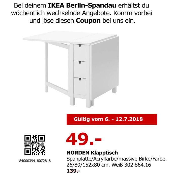 NORDEN Klapptisch Küche IKEA Spandau (Lokal)