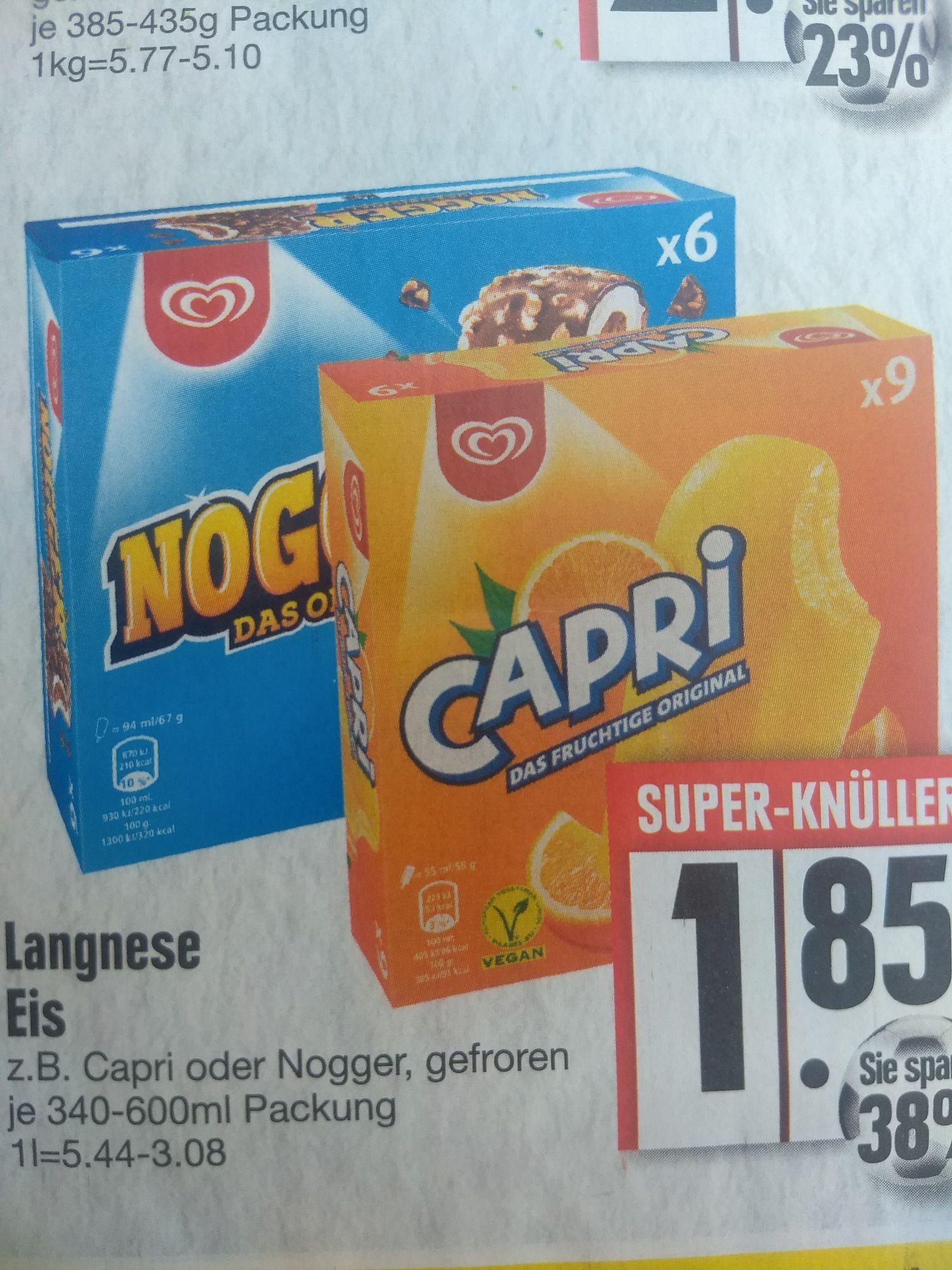 Edeka Süd hat Langnese Eis im Multipack für nur 1,85€