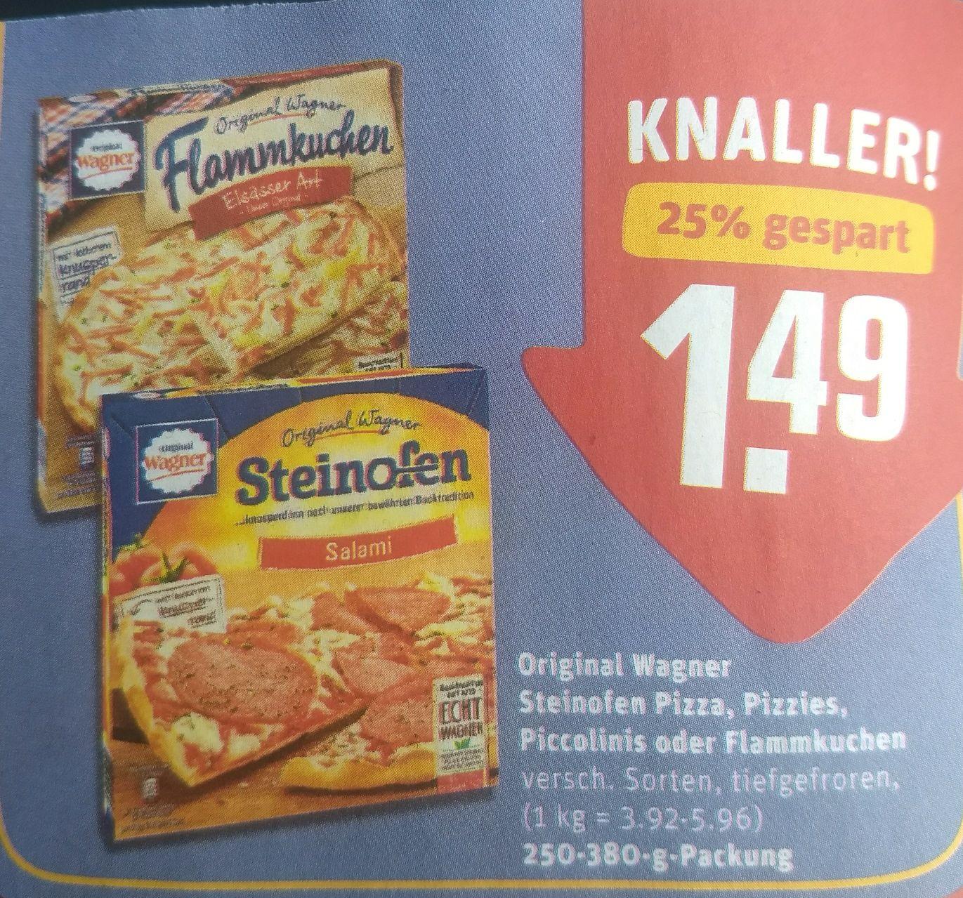 (REWE) Wagner Steinofen Pizza / Flammkuchen / Piccolinis für 1,49€