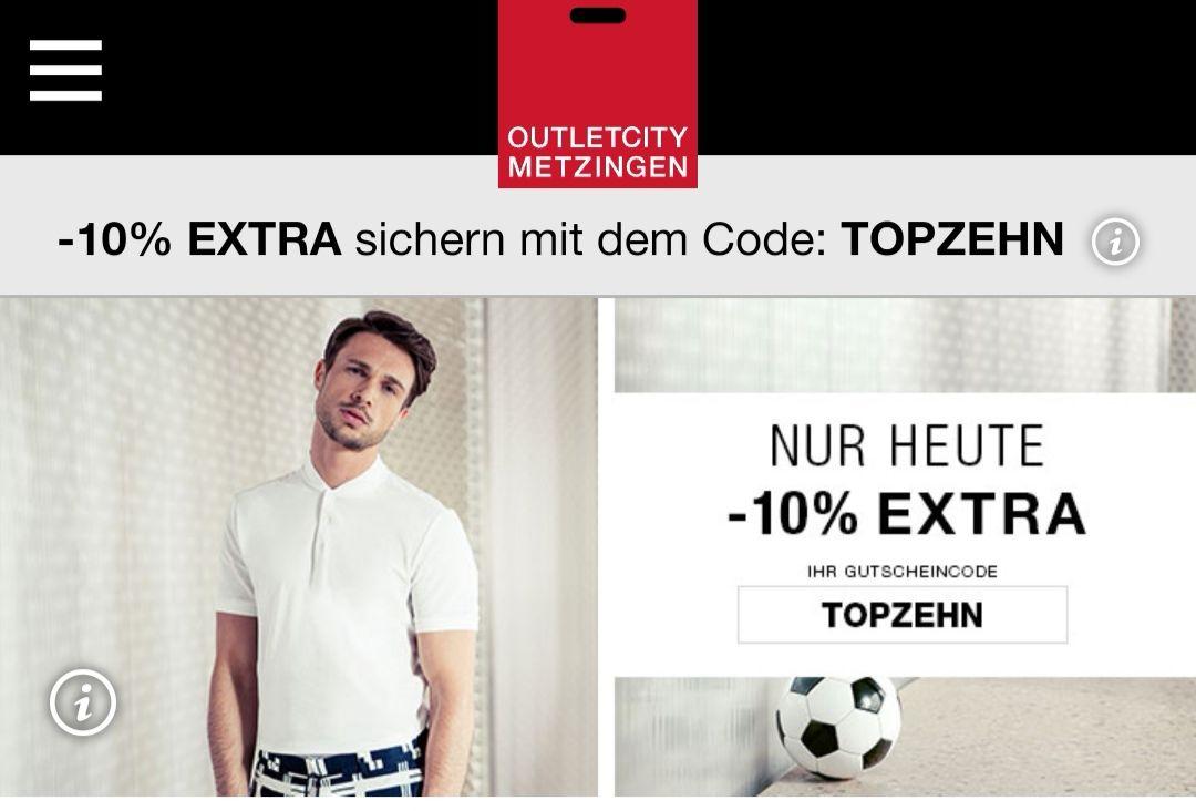 -10% im online Shop Outletcity Metzingen