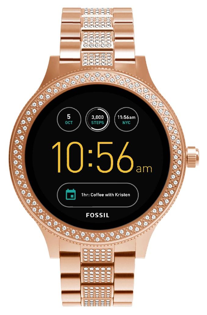 Fossil Damen Smartwatch Q Venture 3. Generation - Edelstahl - Roségold | Für Android & iOS (Filialabholung)