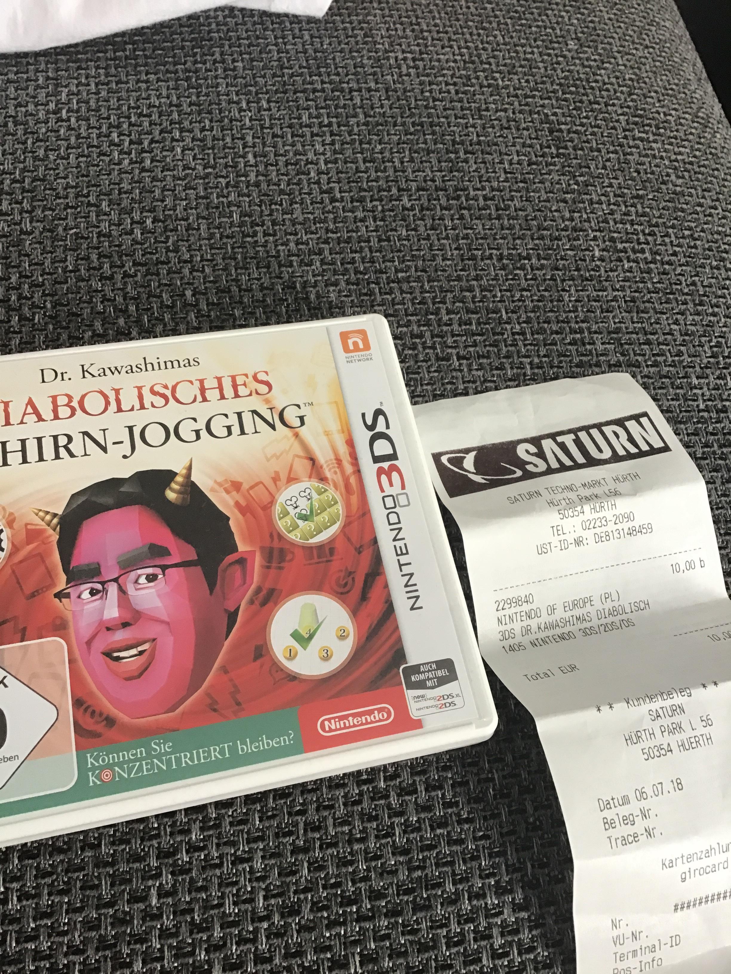 (Saturn, Hürth Park) Nintendo 3DS Dr. Kawashimas Diabolisches Gehirn-Jogging