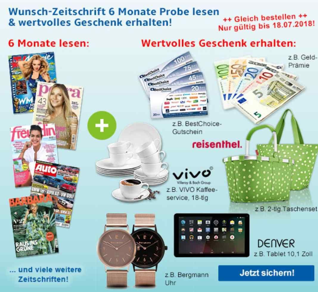Hobby + Freizeit, Zeitschrift 6 Monate Probe lesen und Geschenk erhalten! Z.B. TV Movie für 28.60€ + 30€ Gutschein